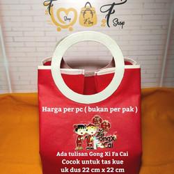 Tas Kain Kantong Souvenir Gagang Bulat Imlek Sincia Chinese New Year