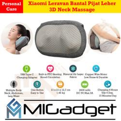 Xiaomi Leravan Bantal Pijat Leher 3D Neck Massage Pillow PTC Heating
