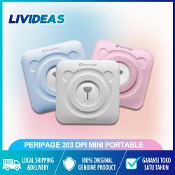 PeriPage 203 DPI Mini Portable Bluetooth Photo Printer Pocket Thermal - Biru Muda