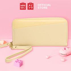 MINISO Dompet Wanita Panjang Wallet Simple Fashion Korea Elegant - Kuning