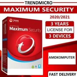 Trend Micro Maximum Security Terbaru 3 Device 3 Tahun original