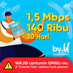 by.U Yang Bikin Aman Jaya Banget - Kuota ~ GB | 140 RIBU | 30 HARI