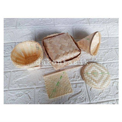 DAKONTASIK - Mainan bakul anyaman bambu pipiti besek 5 in 1