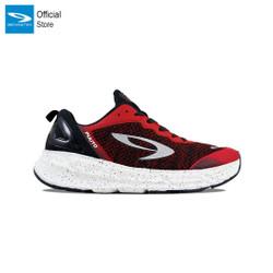910 Nineten Fuuto Accel Sepatu Lari - Merah Fiery Hitam Putih - 43