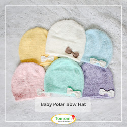 Topi Bayi Polar Bow - Tomomi Baby