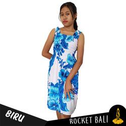 Dress Pantai Motif Bunga - Dress Remaja Motif Bunga Santai Bahan Rayon