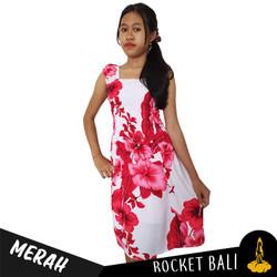 Midi Dress Anak Motif Bunga - Floral Summer Midi Dress Untuk di Pantai