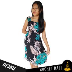 Dress Remaja Motif Bunga - Dress Anak Umur 10-13 Tahunan Kekinian