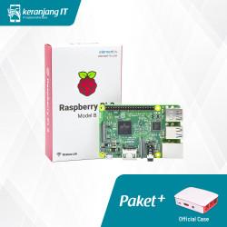 Paket Hemat Raspberry Pi 3 Model B + Official Case Merah Putih