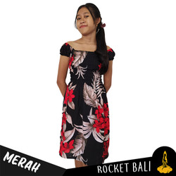 Dress Pendek Simple Remaja - Dress Pendek Santai - Dress Bunga-bunga