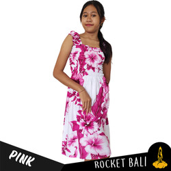 Dress Motif Bunga Remaja - Dress Pantai Bali Untuk Anak Bahan Rayon