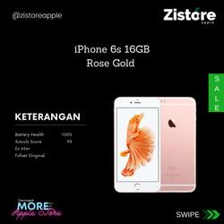 READY!!! iPhone 6s 16GB Rose Gold 2nd/Bekas
