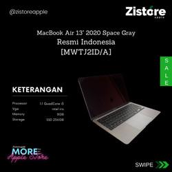 Apple MacBook Air (2020)- 13.3inch, 1.1GHZ, 8GB RAM, 256GB SSD, Gray