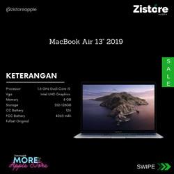 """READY!!! MacBook Air 13"""" 2019 128GB Space Gray 2nd/Bekas"""