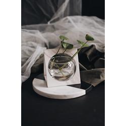 Triangolo Vase - Marble Vas Glass Bowl
