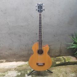 Bass Akustik Elektrik Marfill 4 string ORIGINAL natural glossy