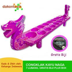 DakonTasik - Congklak Kayu Naga Gratis Biji dan Box Wadah Untuk Kado