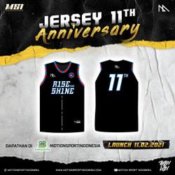 JERSEY BASKET ANNIVERSARY MSI 11TH - RISE AND SHINE BLACK - XXL