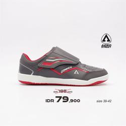 Aerostreet 39-42 Gowes-V Abu Merah -Sepatu Sport Pria Wanita Aero - 41