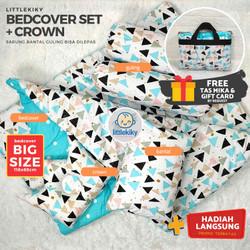 Bedcover Set Lengkap ( Bedcover, Bantal Guling Bayi, Bantal Crown)
