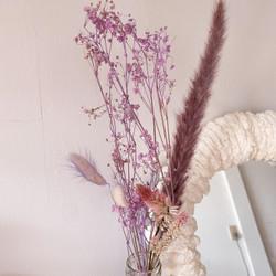"""unicorn"" dried flowers set/ bunga kering satu set tema unicorn - Lilac/ Ungu"