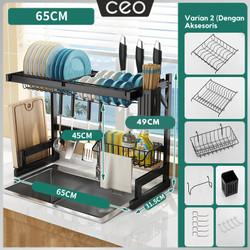 CEO Rak Cuci Piring Rak Pengering Piring Dish Dryer Rak Piring - Varian 2 - 65cm