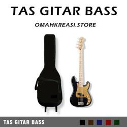Softcase Tas Gitar BASS Elektrik Semi Gigbag Dilengkapi Spons / TBO - Hitam