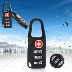 Gembok Swiss Gembok Koper Zipper Lock - Hitam