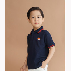 Polo Shirt Anak-Anak Warna Navy Usia 1-9Tahun| P014 by Little Jergio