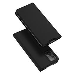 Case Samsung A52 - Dux Ducis Original Premium Flip Leather Casing - Hitam