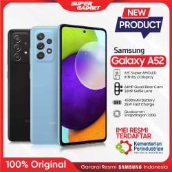 Samsung Galaxy A52 8/128 8/256 GB Kamera 4K RAM 8 ROM 128 256 Resmi - Awesome Black, A52 8/128 GB