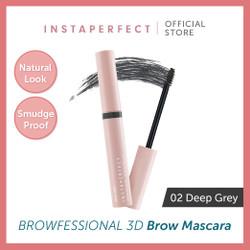 Wardah Instaperfect Browfessional 3D Brow Mascara 02. Deep Grey