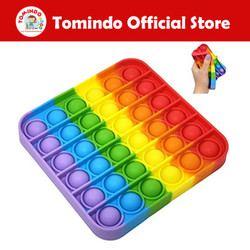 Tomindo Pop It Fidget Toy Pelangi Kotak | pop it mainan anak murah