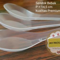 Sendok Bebek / Sendok Bubur Plastik PREMIUM - JUMBO
