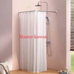 Tiang Shower Curtain Stainless L Kamar Mandi/Gordeng /Tiray Gorden