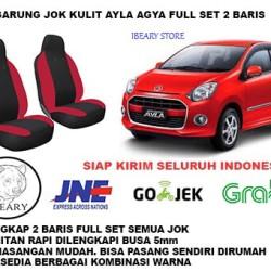 Sarung Jok Mobil Toyota Yaris Kulit Syntetic Full 2 Baris Siap Kirim