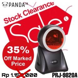 Omni Directional 1D Panda PRJ-9820A Laser Barcode Scanner Duduk USB