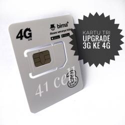 Kartu Pernada Upgrade 3G ke 4G Tri , tree , 3