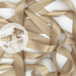 "Double Face Satin Ribbon/Pita Dua Sisi 1""/2.5cm Tan (Cokelat Muda)"