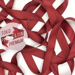 "Double Face Satin Ribbon/Pita Dua Sisi 1""/2.5cm Maroon (Red/Merah)"