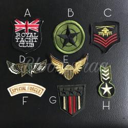 Patch Air Force Army embroidery aplikasi bordir emblem tentara Aviator