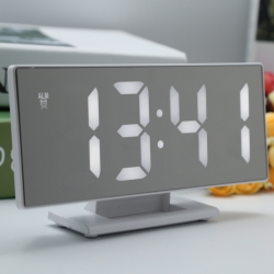 Jam Meja Digital Led Weker / Digital Alarm Clock Mirror DS-3618L White