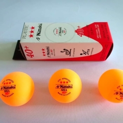 BALL BOLA PING PONG TENIS MEJA NITTAKU 40 MM ORANGE