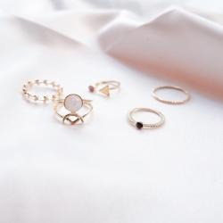 Nuri Rings Set (1 set isi 5pcs cincin)