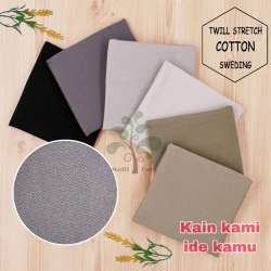 Bahan kain katun sweding twill stretch garment quality celana chino