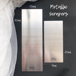 Metallic/ Stainless Steel / ganache/ buttercream/ scaper /scapper TALL