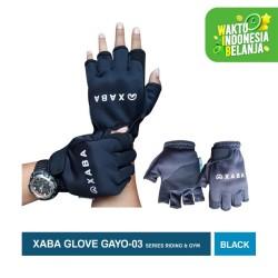 Sarung Tangan Sepeda Motor Half Finger - Glove XABA New Gayo-03