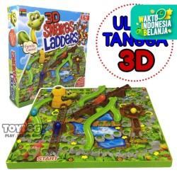 Mainan Anak Snakes and n Ladders 3D Game Ular Tangga 3 Dimensi