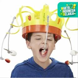 Mainan chow crown, Mainan topi roulette makan, Mainan topi putar makan