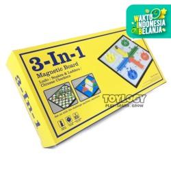3 in 1 Magnetic Board ( 3 in 1 Games : Ludo, Snake ladder, Halma )